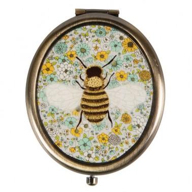 Floral Bee kišeninis veidrodėlis