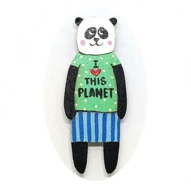 I Love This Planet Panda sagė