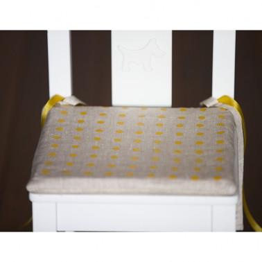 Orange Dots pagalvėlė vaikiškai kėdutei