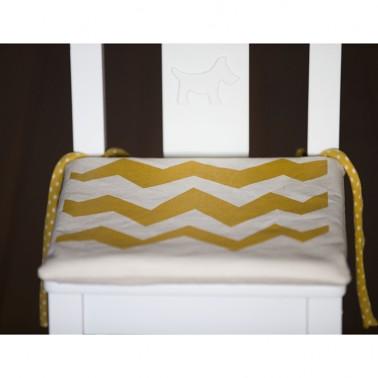Orange Zigzag pagalvėlė vaikiškai kėdutei