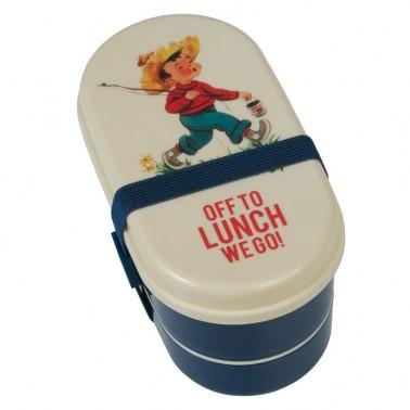 Retro Boy bento priešpiečių dėžutė