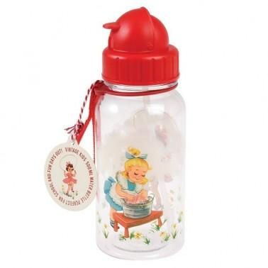 Retro Girl vandens buteliukas