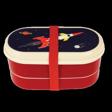Space Age bento priešpiečių dėžutė