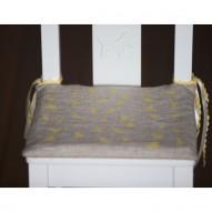 Yellow Triangles pagalvėlė vaikiškai kėdutei