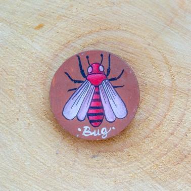 Round Bug брошь