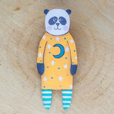 Moon Dress Panda брошь