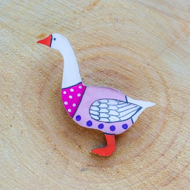Pink Goose брошь