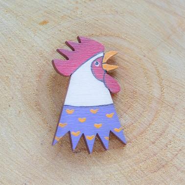 Purple Rooster брошь