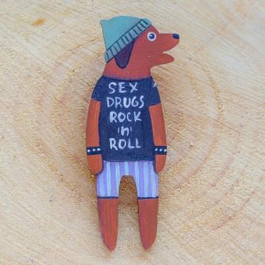 Rock 'n' Roll Doggy брошь